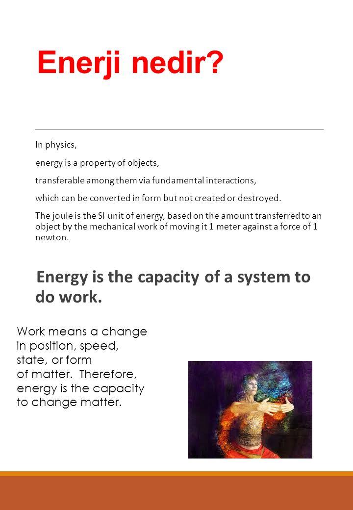 Enerji nedir.