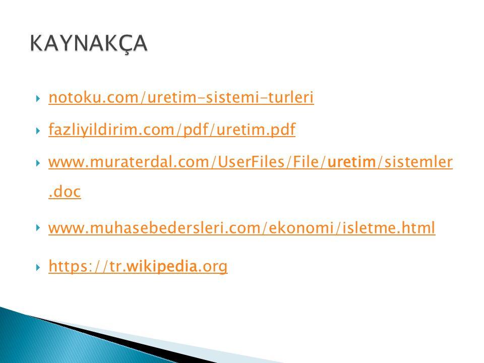  notoku.com/uretim-sistemi-turleri notoku.com/uretim-sistemi-turleri  fazliyildirim.com/pdf/uretim.pdf fazliyildirim.com/pdf/uretim.pdf  www.murate