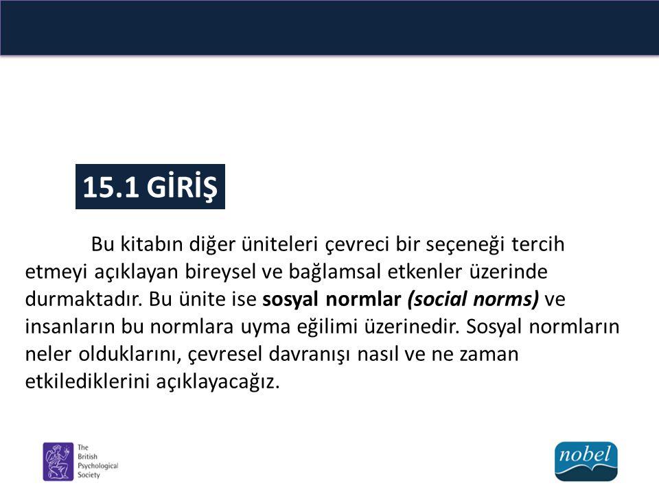 15.2 SOSYAL NORM NEDİR.