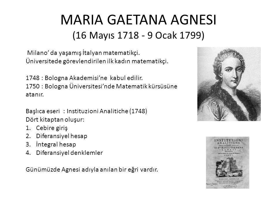Agnesi Eğrisi (Witch of Agnesi)