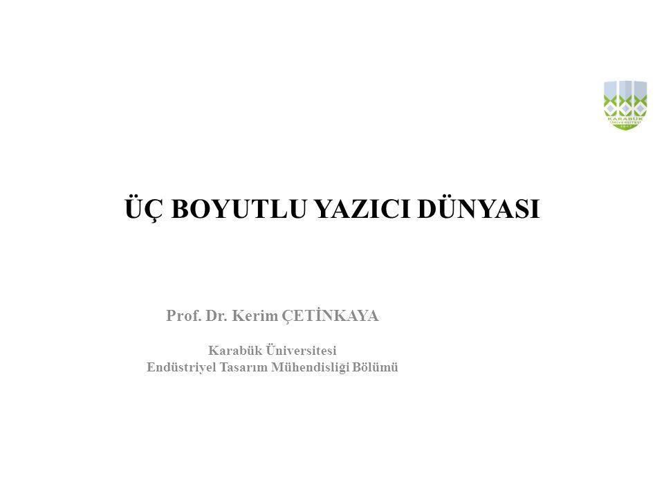 ÜÇ BOYUTLU YAZICI DÜNYASI Prof.Dr.