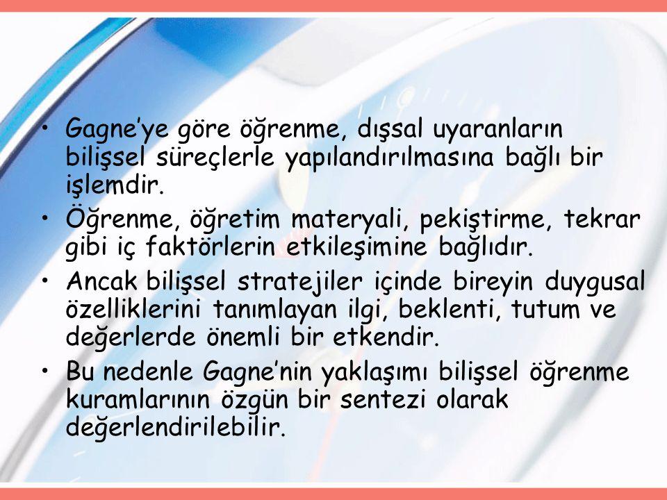 VARSAYIMLAR ÖĞRENME ÜRÜNLERİ TEMEL BOYUTLAR 1.