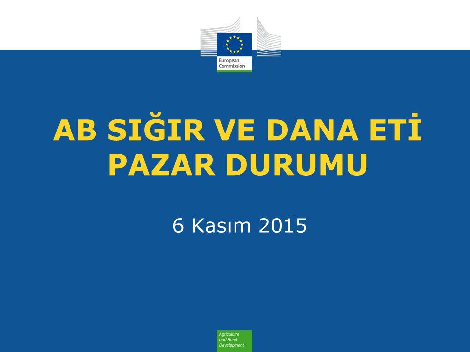 AB SIĞIR VE DANA ETİ PAZAR DURUMU 6 Kasım 2015