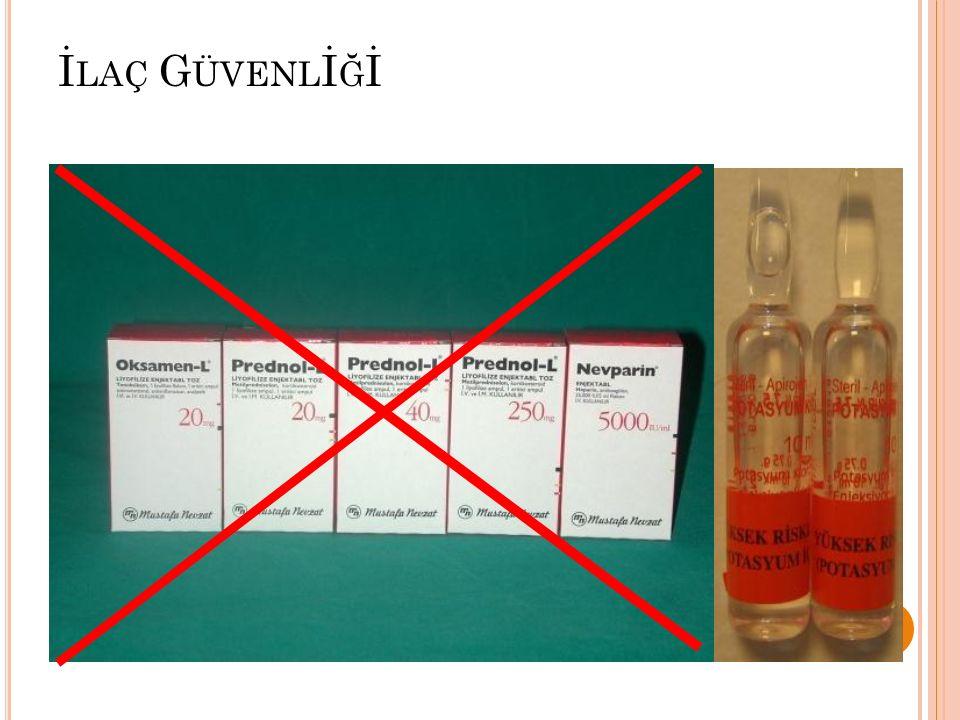 İlaç uygulamalarında 8 doğru kuralı 1- Doğru hasta2- Doğru ilaç3- Doğru yol4- Doğru zaman5- Doğru doz6- Doğru form7- Doğru etki8- Doğru kayıt