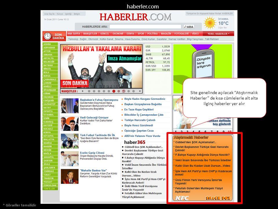 """* Görseller temsilidir Site genelinde açılacak """"Atıştırmalık Haberler"""" de kısa cümlelerle alt alta ilginç haberler yer alır haberler.com"""