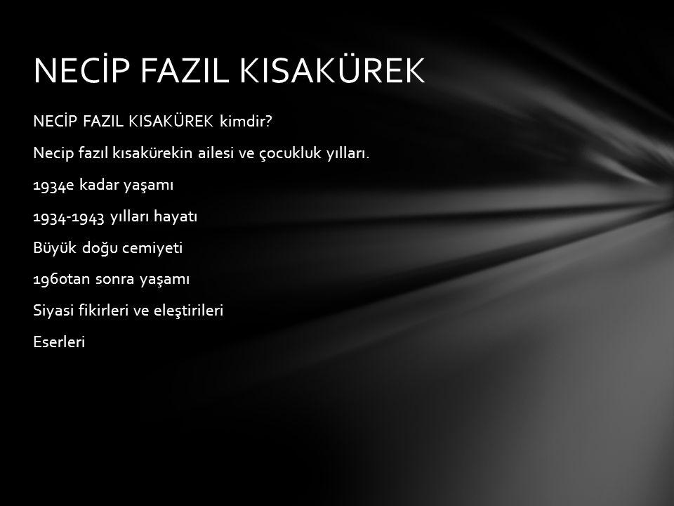 12 yaşında şiire başlayan Necip Fazıl ın ilk şiir kitabı 17 yaşında iken yayınlandı ve şiirleri MEB in ders kitaplarında okutuldu.