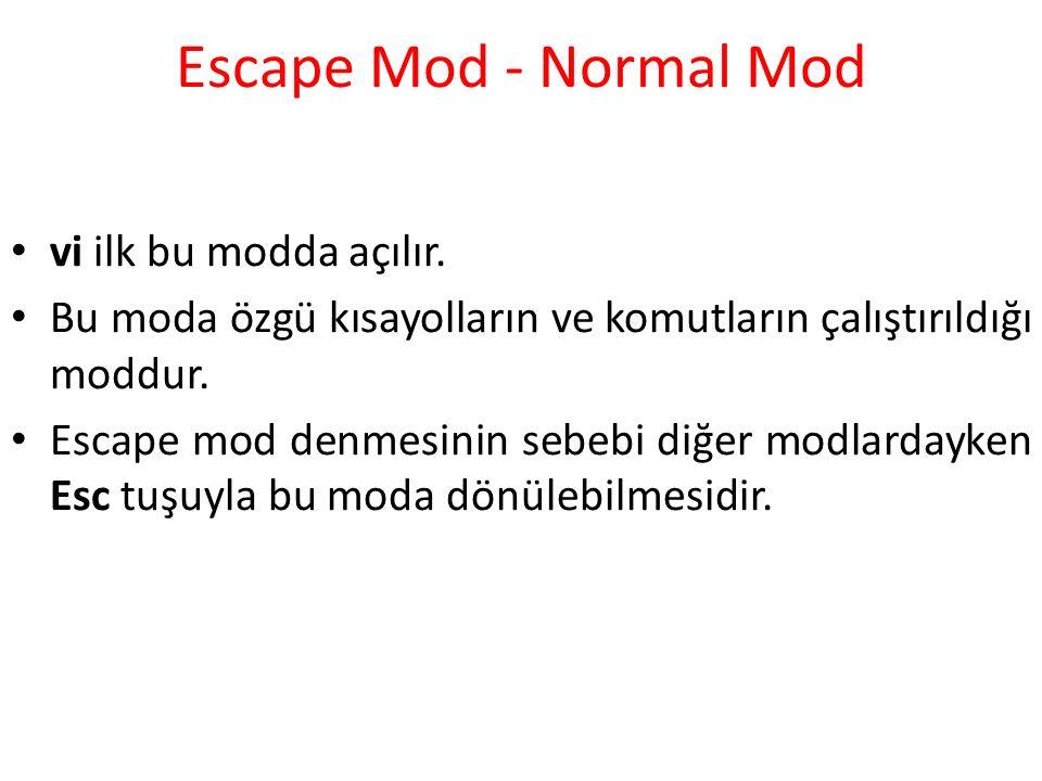 Escape Mod - Normal Mod vi ilk bu modda açılır.