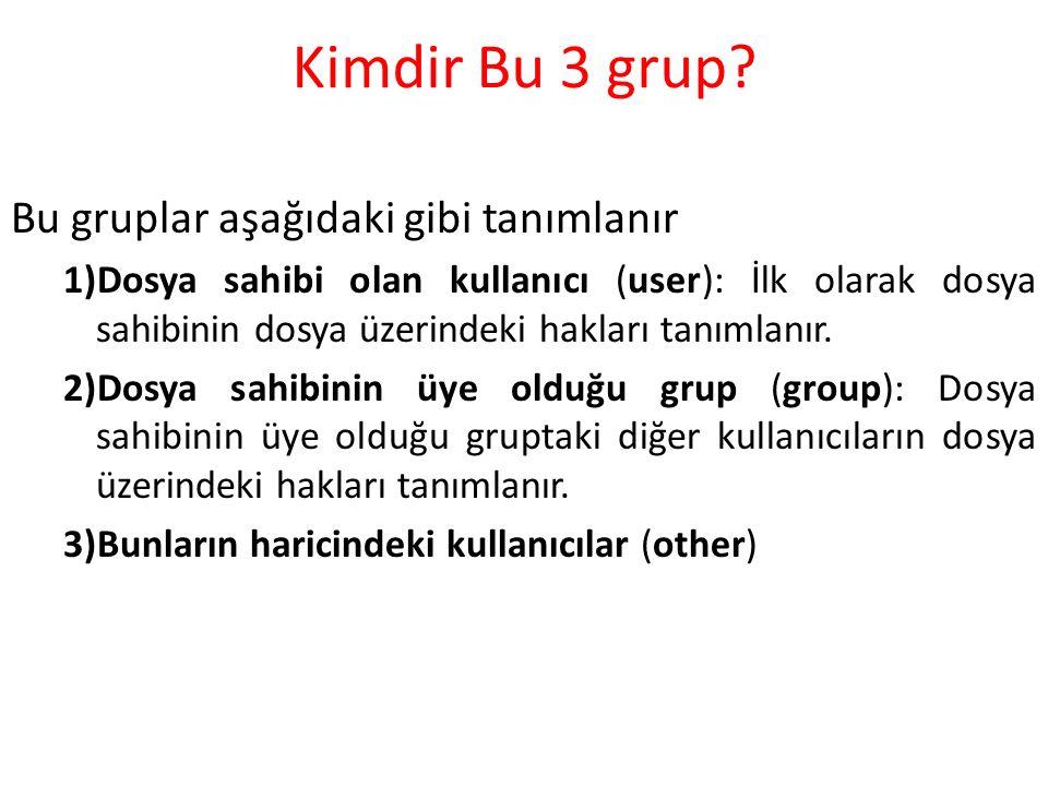 Kimdir Bu 3 grup.