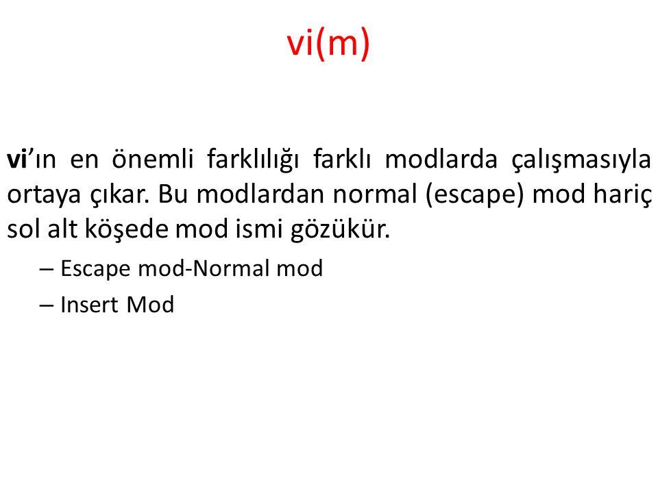vi(m) vi'ın en önemli farklılığı farklı modlarda çalışmasıyla ortaya çıkar.