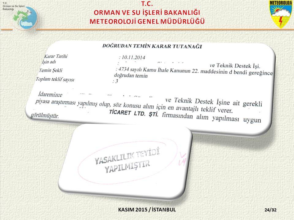 KASIM 2015 / İSTANBUL 24/32