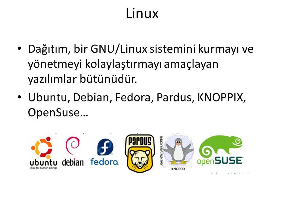 Linux Dağıtım, bir GNU/Linux sistemini kurmayı ve yönetmeyi kolaylaştırmayı amaçlayan yazılımlar bütünüdür.
