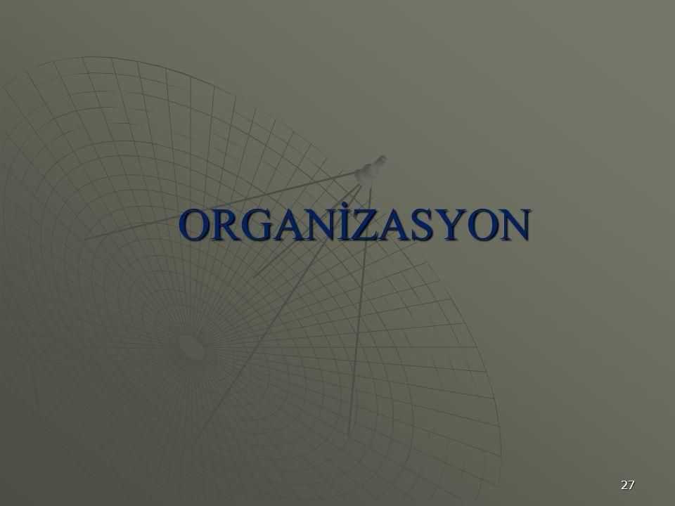 27 ORGANİZASYON