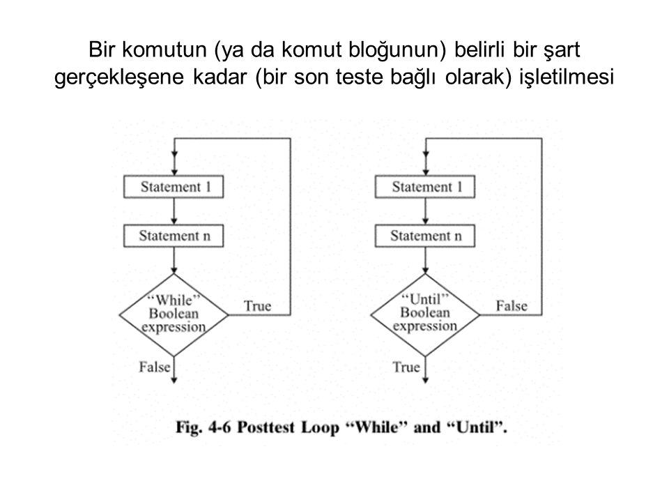 Bir komutun (ya da komut bloğunun) belirli bir şart gerçekleşene kadar (bir son teste bağlı olarak) işletilmesi