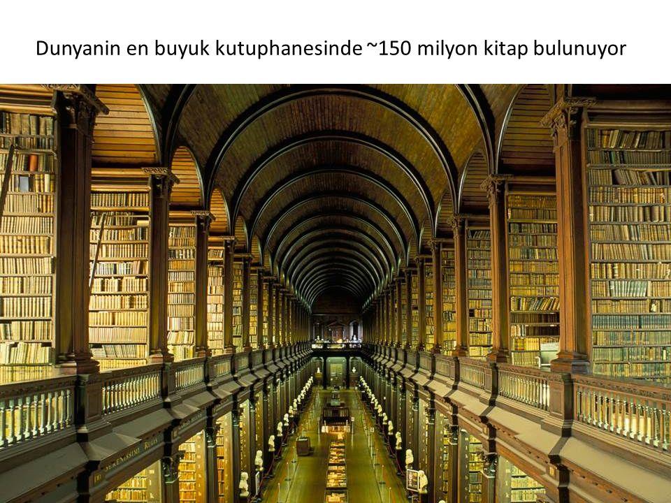 Dunyanin en buyuk kutuphanesinde ~150 milyon kitap bulunuyor