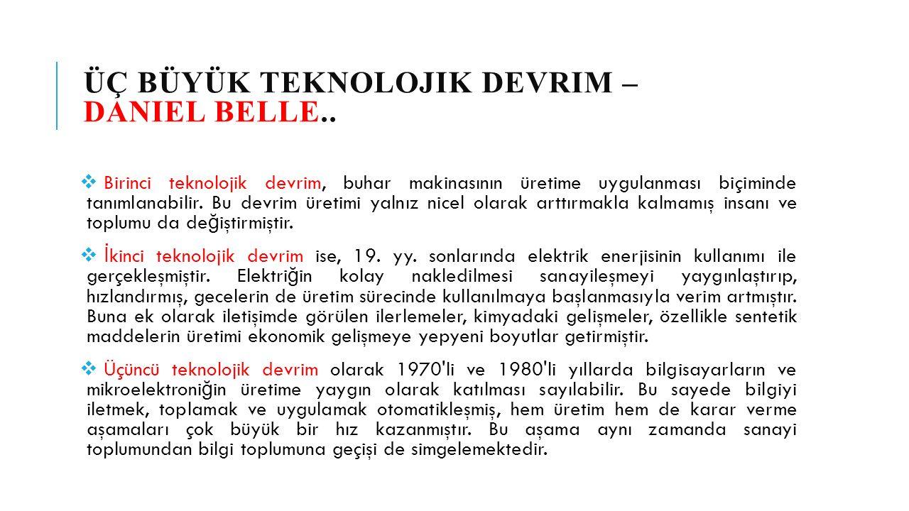 ÜÇ BÜYÜK TEKNOLOJIK DEVRIM – DANIEL BELLE..