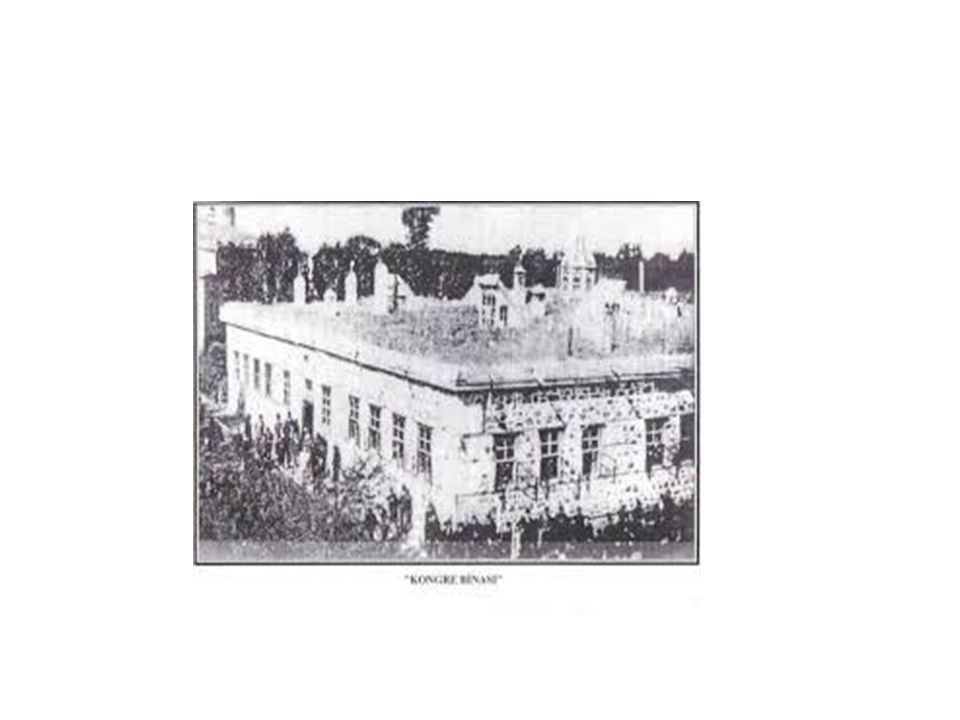 ERZURUM KONGRESİ (23 Temmuz - 7 Ağustos 1919) Anadolu da milli mücadele birliğinin kurulmasının ikinci adımı Erzurum Kongresi ile atıldı.