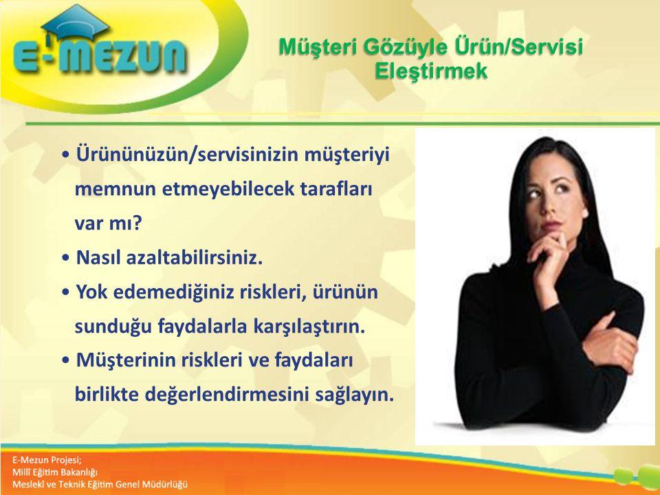 Faal 2.7 100 Genç Girişimcilik Eğitimi 1. MODÜL Girişimcilik Bana Göre mi ? Müşteri Gözüyle Ürün/Servisi Eleştirmek Ürününüzün/servisinizin müşteriyi