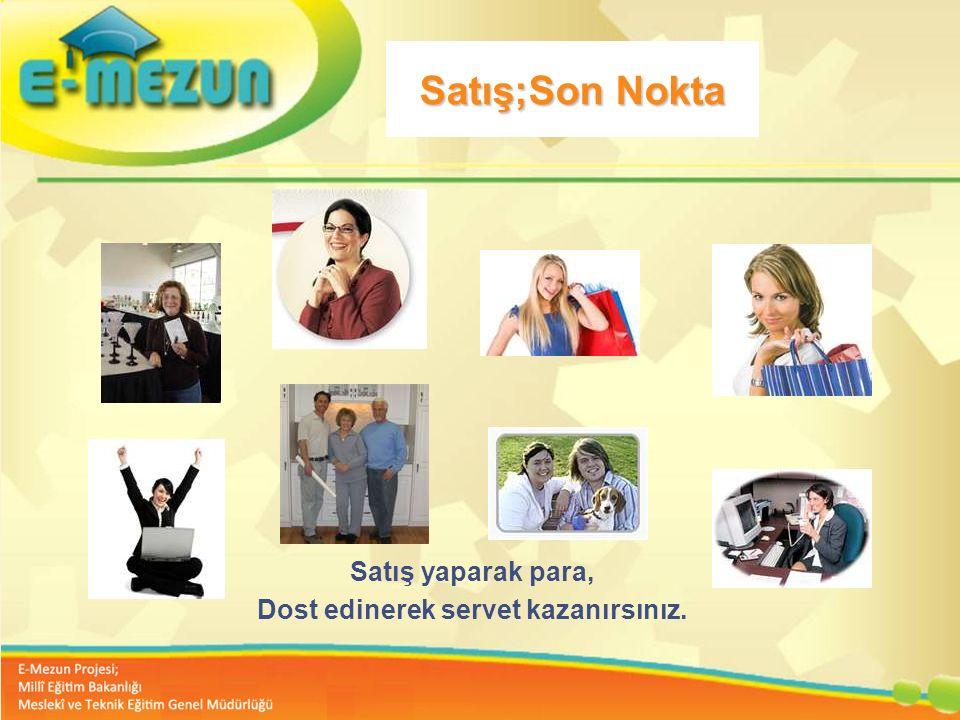 Faal 2.7 100 Genç Girişimcilik Eğitimi 1. MODÜL Girişimcilik Bana Göre mi ? Satış;Son Nokta Satış yaparak para, Dost edinerek servet kazanırsınız.