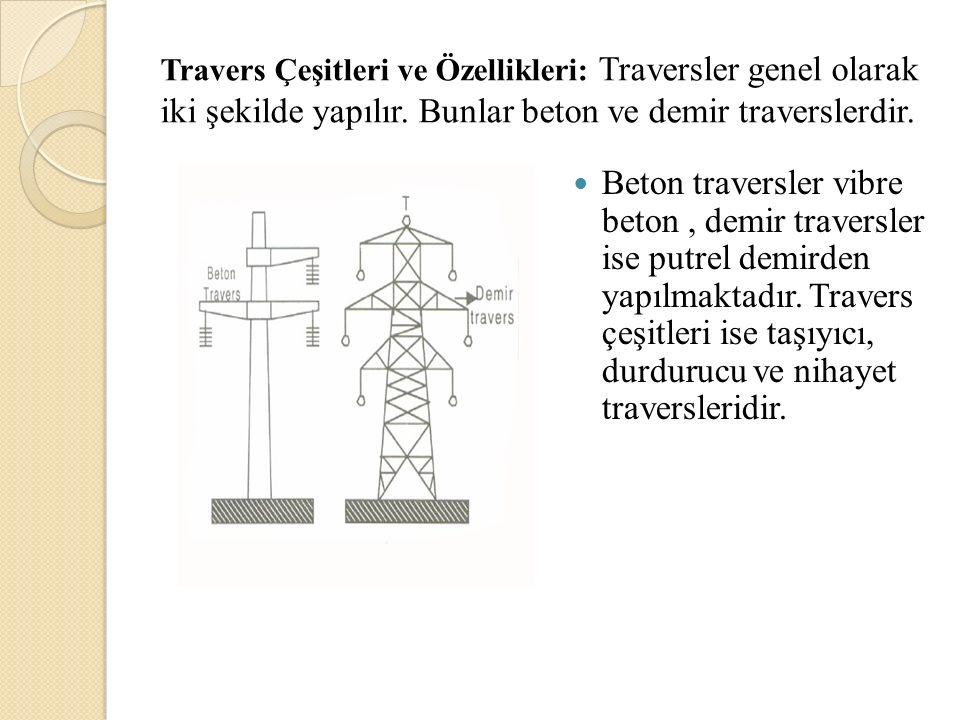 Travers Çeşitleri ve Özellikleri: Traversler genel olarak iki şekilde yapılır. Bunlar beton ve demir traverslerdir. Beton traversler vibre beton, demi