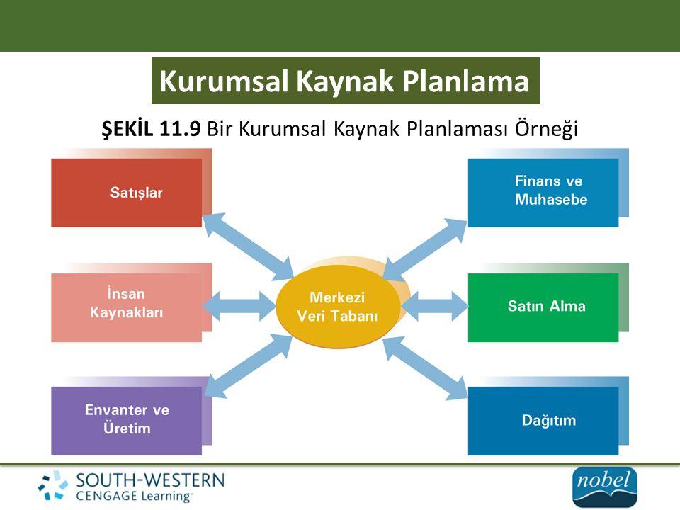 Kurumsal Kaynak Planlama ŞEKİL 11.9 Bir Kurumsal Kaynak Planlaması Örneği