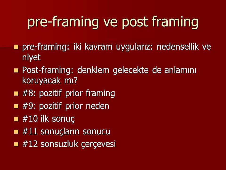 pre-framing ve post framing pre-framing: iki kavram uygularız: nedensellik ve niyet pre-framing: iki kavram uygularız: nedensellik ve niyet Post-framing: denklem gelecekte de anlamını koruyacak mı.