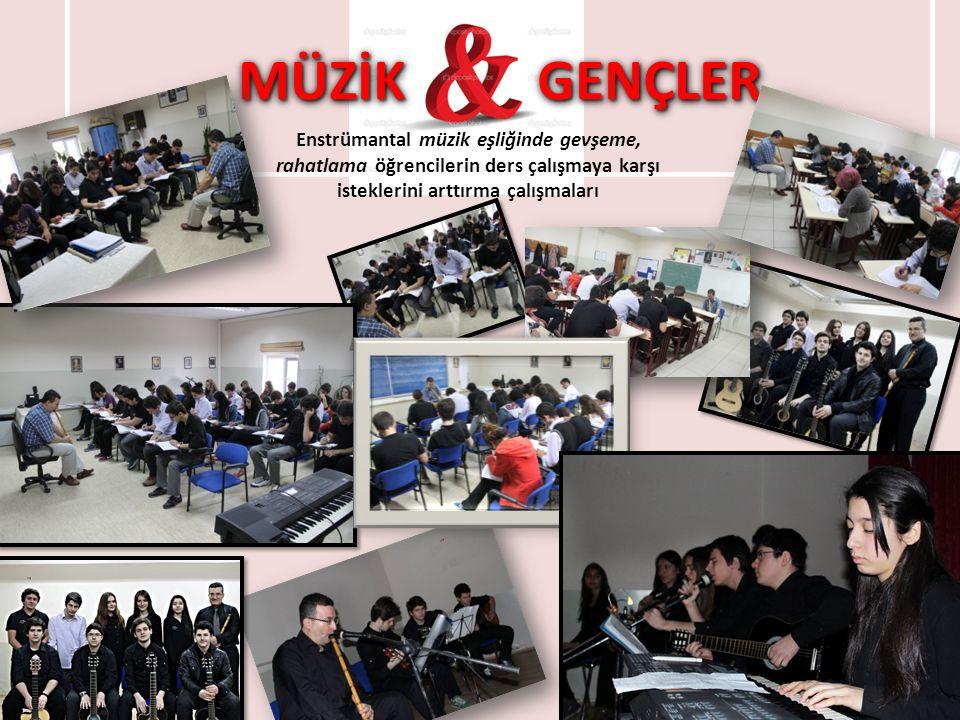 MÜZİK GENÇLER Enstrümantal müzik eşliğinde gevşeme, rahatlama öğrencilerin ders çalışmaya karşı isteklerini arttırma çalışmaları