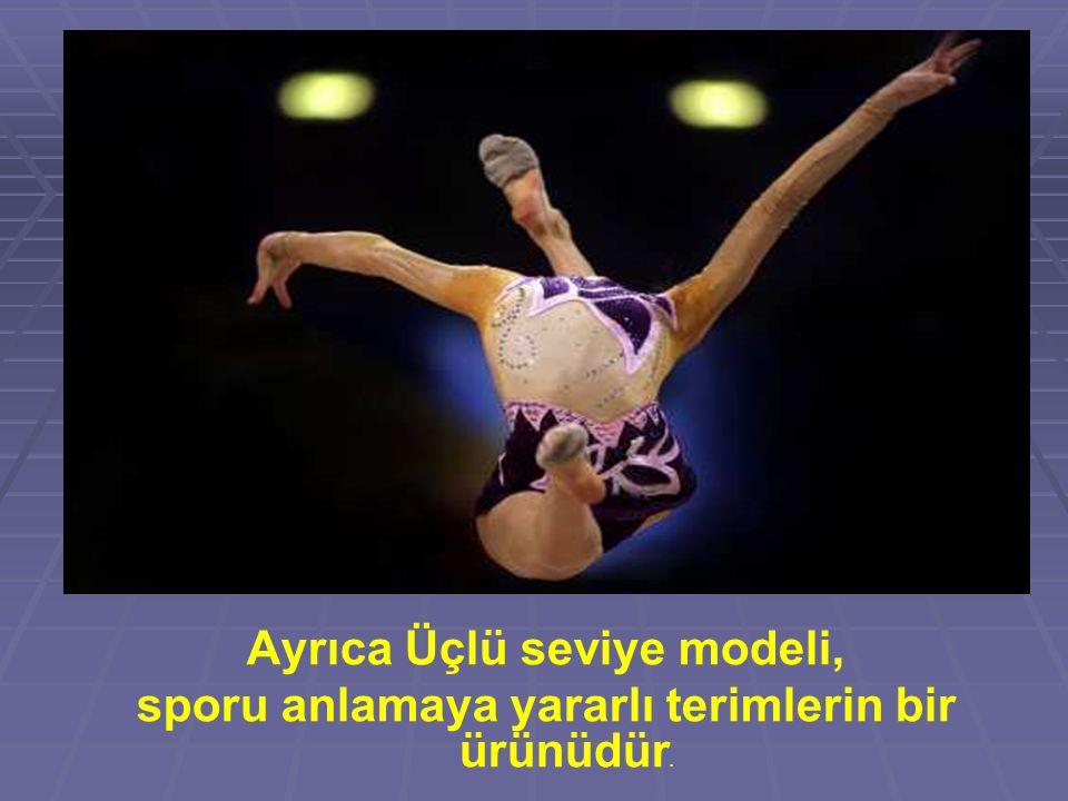 Ayrıca Üçlü seviye modeli, sporu anlamaya yararlı terimlerin bir ürünüdür.