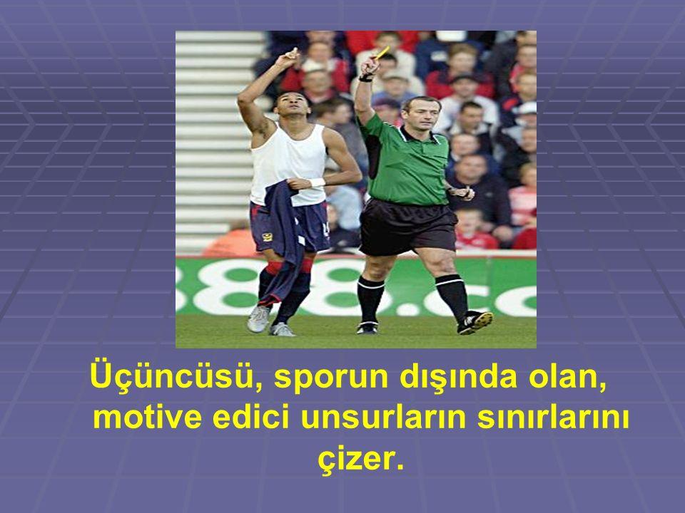 Üçüncüsü, sporun dışında olan, motive edici unsurların sınırlarını çizer.