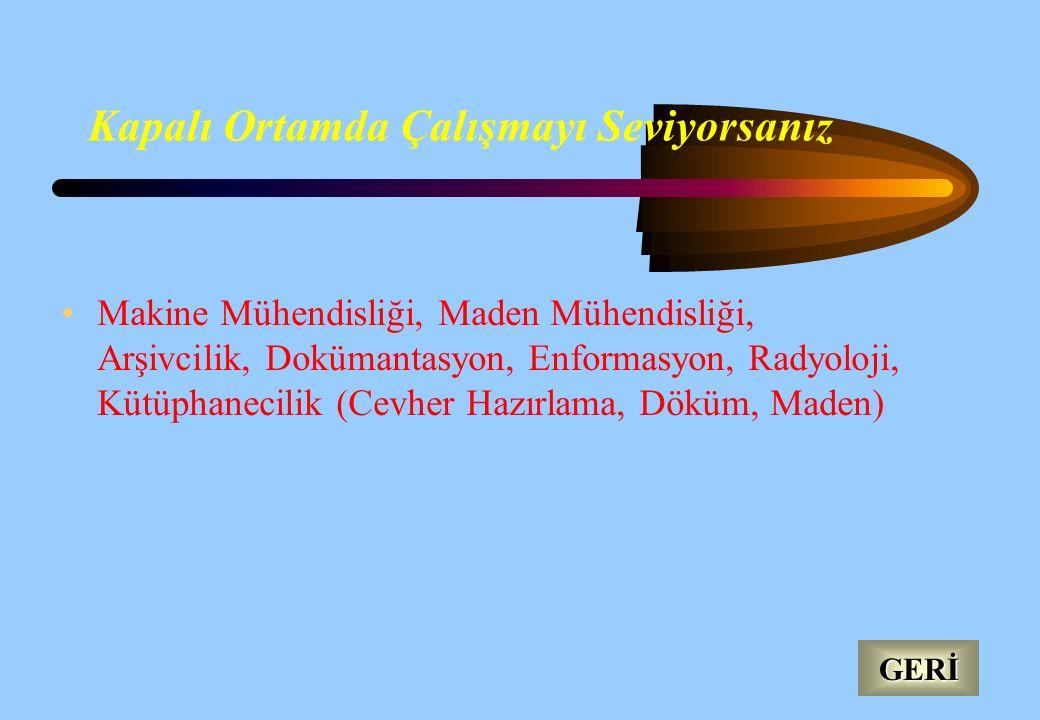 Jeoloji ve Kimyaya İlgi Duyuyorsanız Meteoroloji, Maden Mühendisliği, Toprak, Jeoloji, Petrol Doğalgaz, Seramik, Cam, Cevher Hazırlama, Döküm, Maden.
