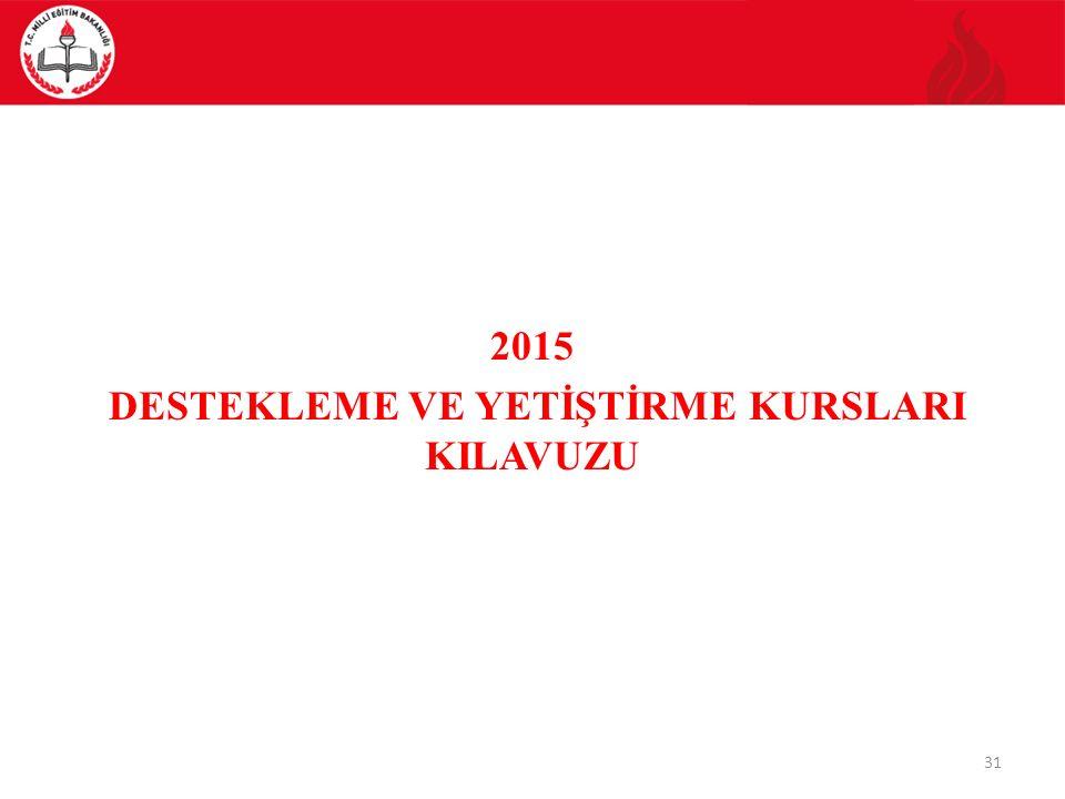 2015 DESTEKLEME VE YETİŞTİRME KURSLARI KILAVUZU 31