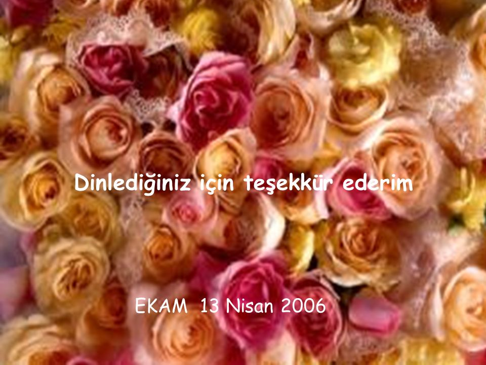 Dinlediğiniz için teşekkür ederim EKAM 13 Nisan 2006