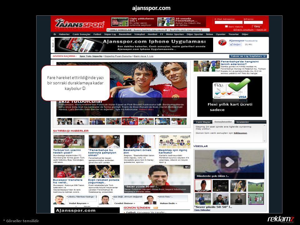* Görseller temsilidir ajansspor.com Fare hareket ettirildiğinde yazı bir sonraki duraklamaya kadar kaybolur