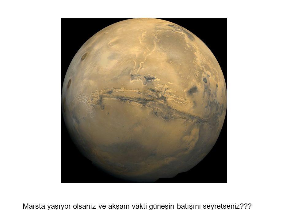 Marsta yaşıyor olsanız ve akşam vakti güneşin batışını seyretseniz