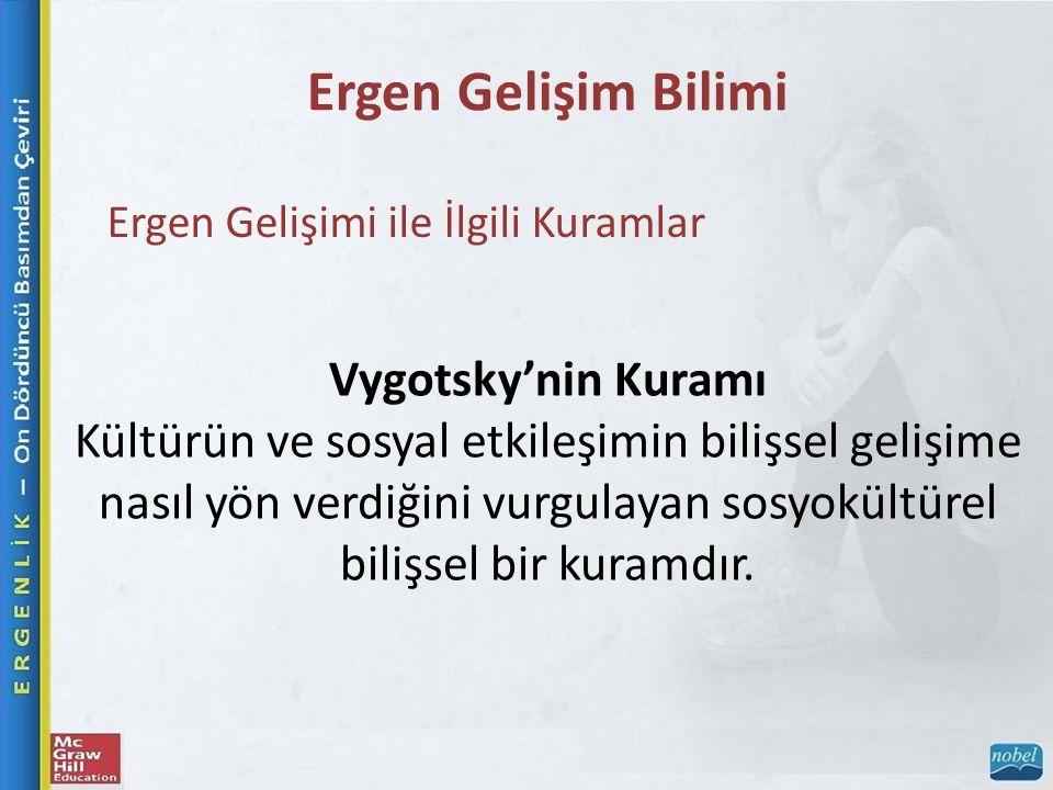 Vygotsky'nin Kuramı Kültürün ve sosyal etkileşimin bilişsel gelişime nasıl yön verdiğini vurgulayan sosyokültürel bilişsel bir kuramdır.