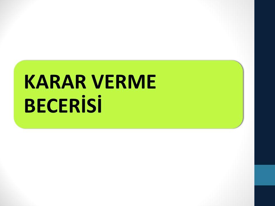 KARAR VERME BECERİSİ