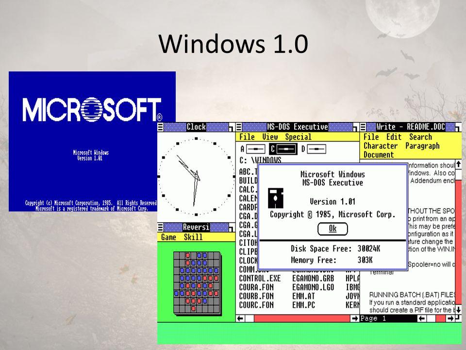 Windows 2.0 Windows 2.0 1987 yılında kullanıcı arayüzü ve hafıza yönetimi gibi çeşitli geliştirmelerle birlikte piyasaya sürüldü.