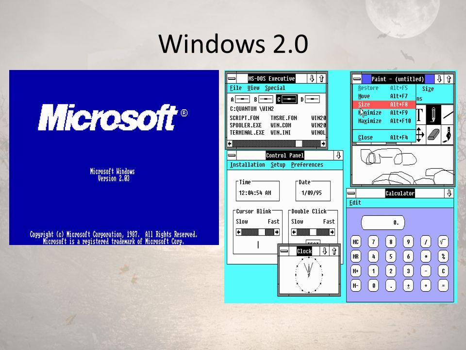 Windows 3.0 – 3.1 Windows 3.0 1990 yılında, 3.1 ise 1992 yılında piyasaya sürülmüştür.