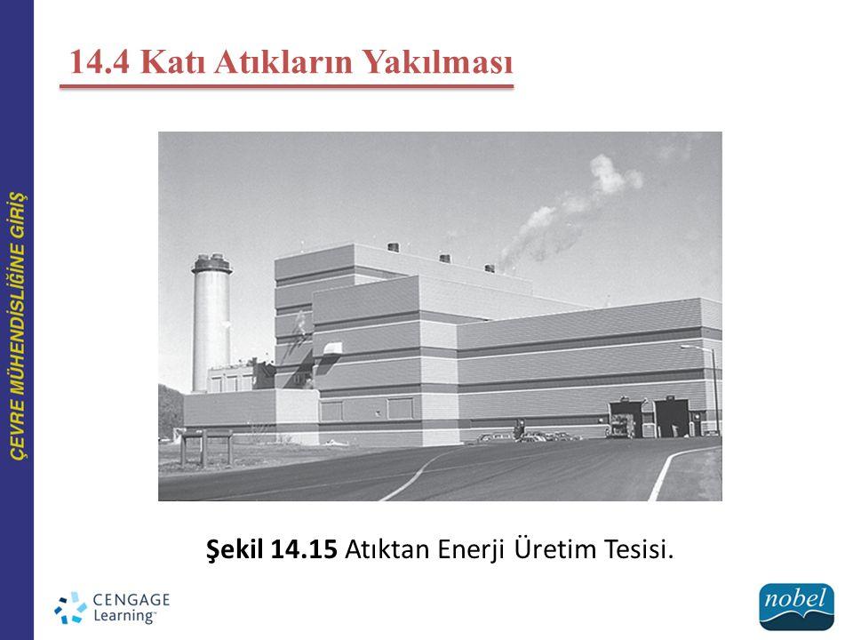 14.4 Katı Atıkların Yakılması Şekil 14.15 Atıktan Enerji Üretim Tesisi.