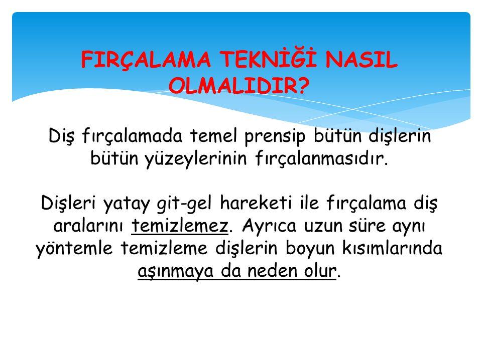 FIRÇALAMA TEKNİĞİ NASIL OLMALIDIR.