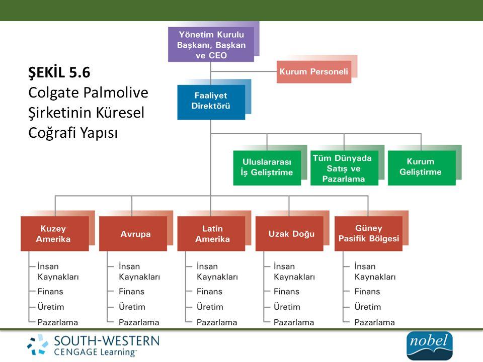 ŞEKİL 5.6 Colgate Palmolive Şirketinin Küresel Coğrafi Yapısı
