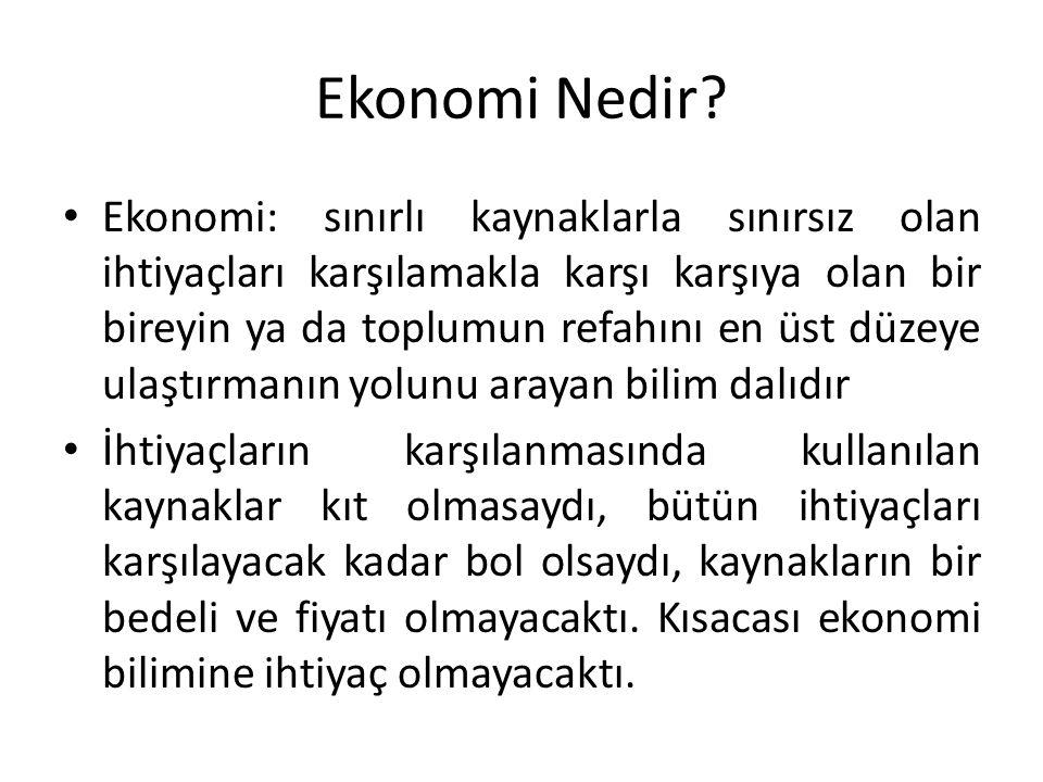 Ekonomi Nedir.