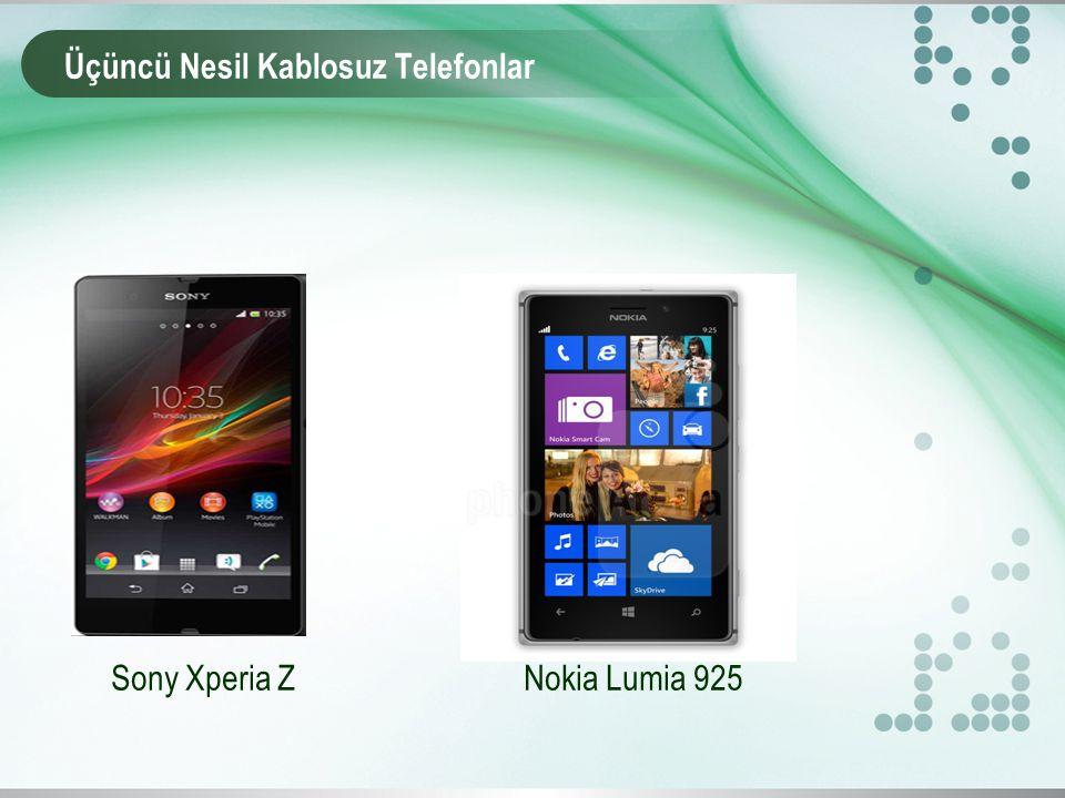 Üçüncü Nesil Kablosuz Telefonlar Sony Xperia Z Nokia Lumia 925