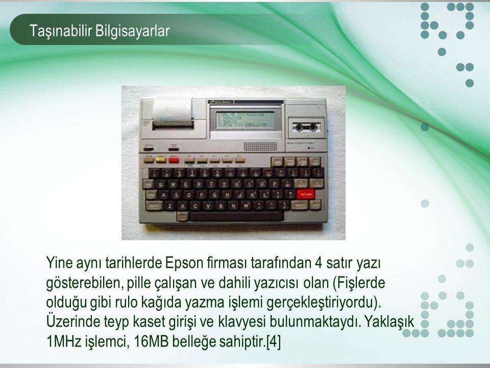 Taşınabilir Bilgisayarlar 1982 yılında Grid Compass isimli 5 kilo ağırlığında, intel 8150 işlemciye sahip ve yaklaşık 340KB belleğe sahip dizüstü bilgisayar üretilmiştir.