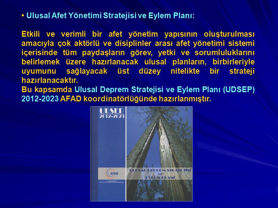 Ulusal Afet Yönetimi Stratejisi ve Eylem Planı: Etkili ve verimli bir afet yönetim yapısının oluşturulması amacıyla çok aktörlü ve disiplinler arası a