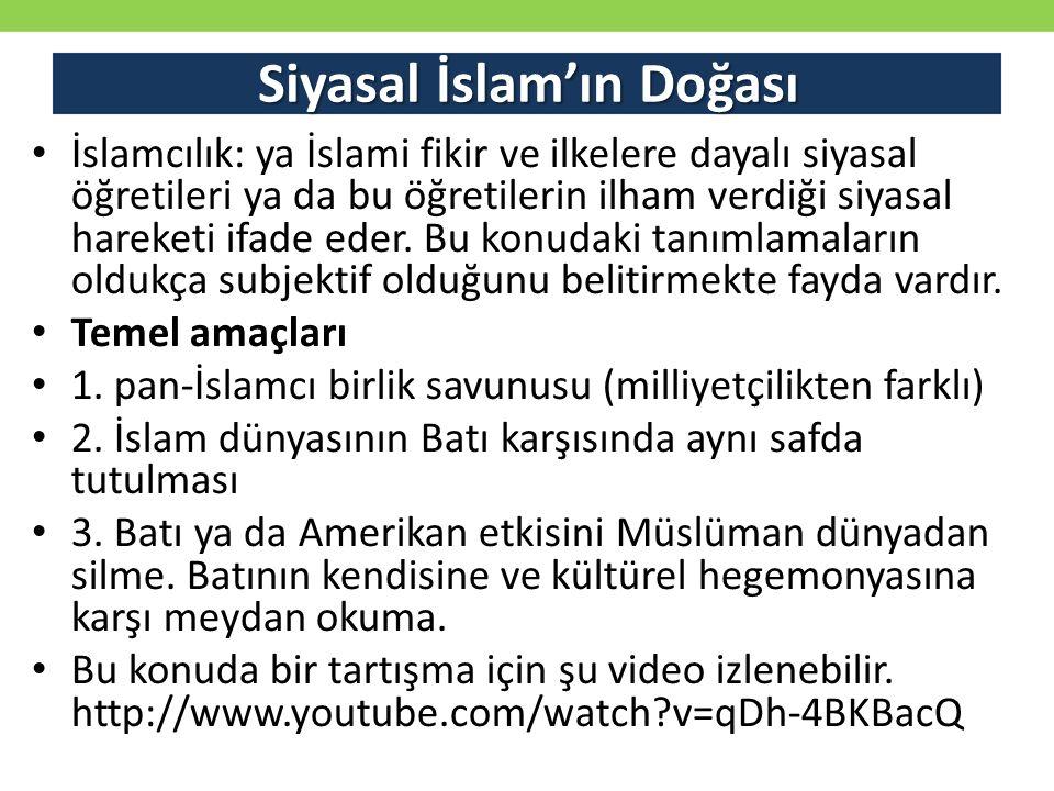 Siyasal İslam'ın Doğası İslamcılık: ya İslami fikir ve ilkelere dayalı siyasal öğretileri ya da bu öğretilerin ilham verdiği siyasal hareketi ifade ed