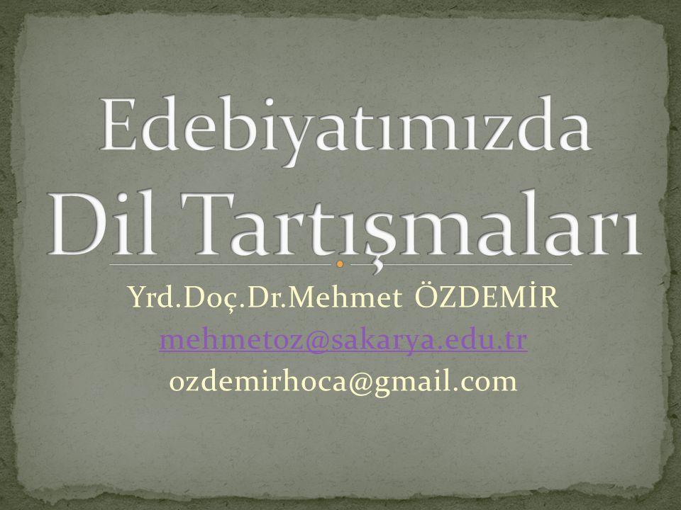 Mehmet Emin Yurdakul'un 1897 Türk Yunan savaşı sırasında hece vezni ile yazdığı şiirler, 1898'de Türkçe Şiirler adı ile yayımlanır… Recaizade M.