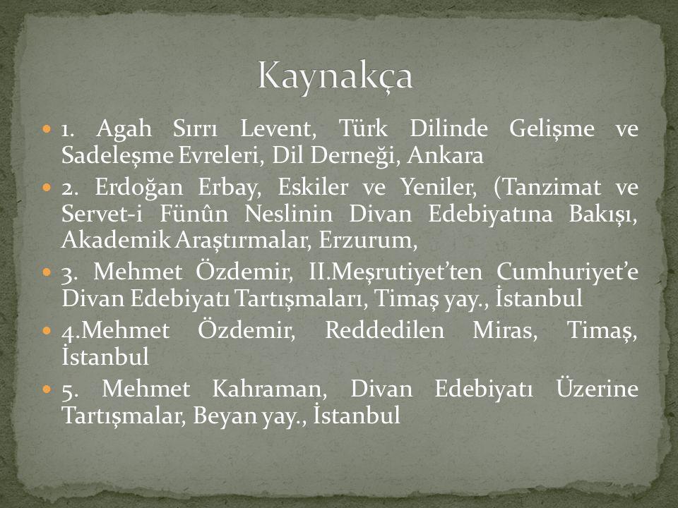 6.Faruk Kadri Timurtaş, Dil Davası, Yeni Asya Yay., İstanbul 7.