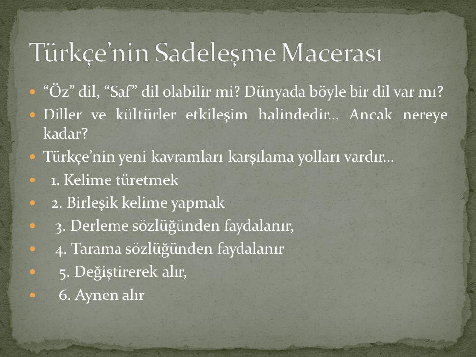 İlk Türkçe yazılı metinler olan Kök Türk kitabeleri' nden bu güne, Türk Dili bir çok dilden kelime alıp vermiştir… Kök Türkçe içinde Çince ve Moğolca kelimeler olduğunu biliyoruz.