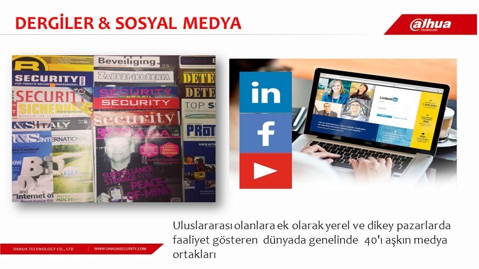 Uluslararası olanlara ek olarak yerel ve dikey pazarlarda faaliyet gösteren dünyada genelinde 40 ı aşkın medya ortakları DERGİLER & SOSYAL MEDYA