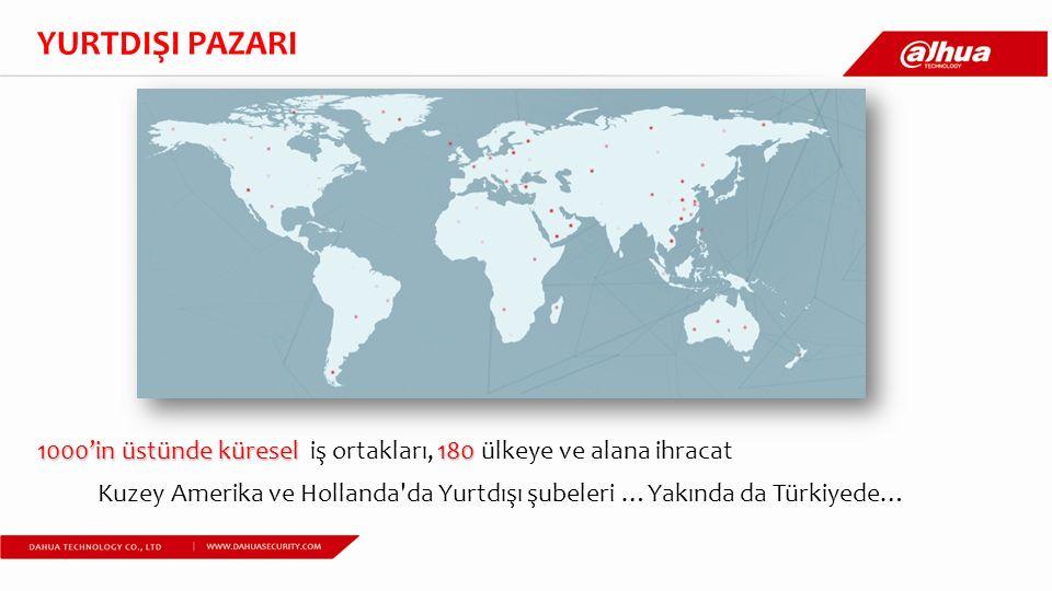 YURTDIŞI PAZARI 1000'in üstünde küresel 180 1000'in üstünde küresel iş ortakları, 180 ülkeye ve alana ihracat Kuzey Amerika ve Hollanda da Yurtdışı şubeleri …Yakında da Türkiyede…